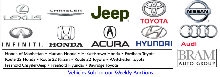 BRAM Auto Group vehicles in our Weekly Auctions.